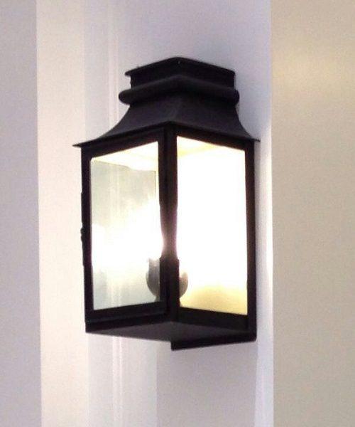 Alg Wl195 Modern Black Metal Wall Lamp C W Clear Gl
